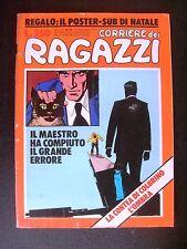 CORRIERE DEI RAGAZZI 1975 n° 51  - MOLTO BUONO CON POSTER SUB DI NATALE