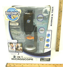 2008 Discovery Kids 2 in 1 Microscope 13X to 200X Ages 6+ Magnifier Unused