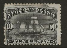 NEWFOUNDLAND  SG 54  1887  10c BLACK   GOOD USED