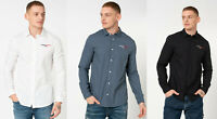 Tommy Hilfiger Men Long Sleeve Cotton Textured Slim Casual Shirt Top M L XL 2XL