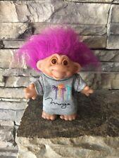 Dam Troll Doll! 4 1/2� Magenta Hair Amber Eyes! Mirage Lv Promo Troll! 1986!