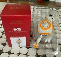 BBS FIRST CHRISTMAS STAR WARS BB-8 Droid PORCELAIN RATTLE Hallmark Ornament NEW