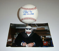 BREWERS Chris Bosio signed baseball w/ 1987 Team Streak AUTO Autographed Milwauk