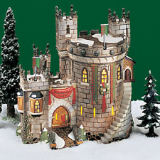NEW Dept 56 Dickens Snow Village HEATHMOOR CASTLE Scottish Castle Flags Lighted