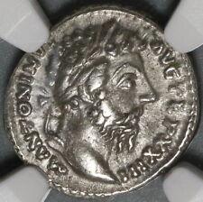 169 NGC XF Marcus Aurelius Denarius Roman Empire Salus Snake Silver (20083001C)
