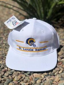 DEADSTOCK NWT VTG 90s The Game Split Bar St Louis Los Angeles Rams NFL Hat