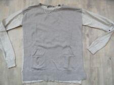 ESPRIT schöner Pullover beige m. Taschen  Gr. XS e218