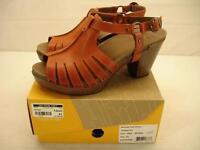 NIB womens 10.5 11 sz 41 Dansko Randa Tangerine leather shoes high heel sandals