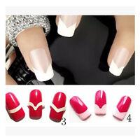 240 pcs French Manicure Nail Art Tips Form Guide Sticker Polish DIY Stencil 9C