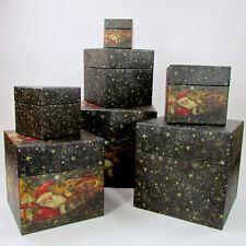Bob's Boxes SANTA'S SLEIGH 7Pc Nesting Stackable Set Christmas Primitive Winget