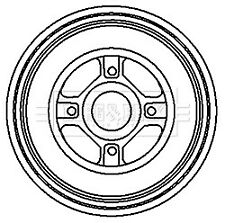 Brake Drum fits NISSAN NOTE E11 1.4 Rear 06 to 12 CR14DE 203.3mm B&B 43206AX650