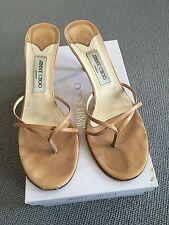 Jimmy Choo 100% Leather Kitten Mid Heel (1.5-3 in.) Women's Shoes