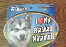 "Scandical I Love My Dog Laminated Car Pet Magnet 4"" x 6"" Alaskan Malamute"