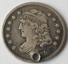 More details for usa 1835  5 cents dollar silver coin capped bust