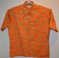 Pierre Cardin Men's Hawaiian-Style Shirt Beautiful Floral Pattern Size XL