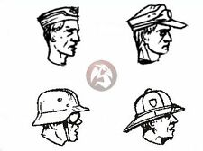 CMK 1/35 German Afrika Korps WWII Characteristic Heads (4 pieces) B35078