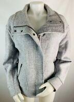 Banana Republic Medium Womens Gray ZIP Up Jacket Coat Pea Bomber