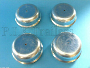 4 x 64mm Hub Caps for Indespension Trailer Wheel Grease Metal Dust Cap