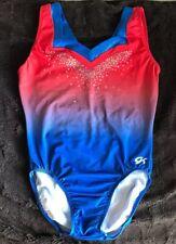 Red Blue Ombré GK Elite Lady Liberty Gymnastics Leotard Size AS