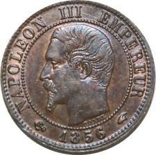 O6695 Rare 1 centime Napoléon III Nue 1856 A Paris SPL RED LUSTER