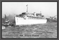 KdF Kreuzfahrtschiff MS Wilhelm Gustloff Blechschild Schild Tin Sign 20 x 30 cm