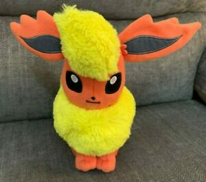 "Official TOMY Pokémon FLAREON 8"" Soft Toy 2017 Eevee Evolution"