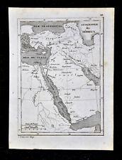 c 1835 Levasseur Map - Hebrews Canaan Egypt Palestine Israel Arabia Middle East