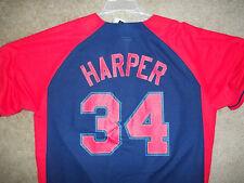 Washington Nationals Bryce Harper Baseball MLB Button Down Jersey XXL DC #34 MVP