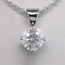 0.30ct Diamond & Platinum Pendant Certificated D IF Exc Brilliant Cut with Chain