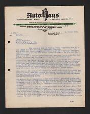 FREIBERG SA, carta de 1930, Straube y Hargreaves concesionario KG BMW Brennabor águila