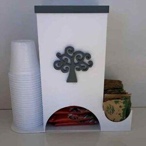 """PORTA CIALDE DISPENSER CAFFÈ zucchero palette e bicchieri """"CIALDE"""""""
