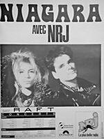 PUBLICITÉ DE PRESSE 1987 NRJ AVEC NIAGARA EN CONCERT - ADVERTISING