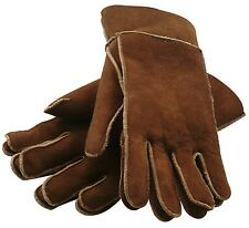ASTON NY SUEDE CASTANO GLOVES 100% Shearling XL LARGE $179 Retail