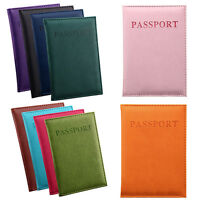 CHIC TRAVEL PASSPORT ID CARD COVER HOLDER CASE PU LEATHER PROTECTOR WALLET PURSE