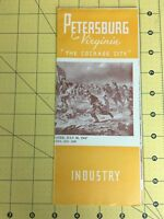 Vintage Travel Brochure Petersburg Virginia The Cockade City History Industry
