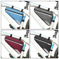 Bicycle Triangle Frame Front Bag Saddle Panniers Bike Tube Pouch Holder