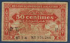 ALGÉRIE - 50 CENTIMES Pick n° 100 de 1944 en TB   2e T Série I 4 N° 976,286