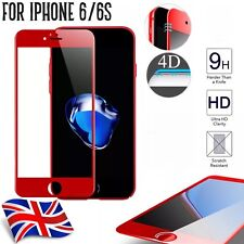 Red 4D Full Curved Edge To Edge 3D Tempered Glass For Apple iPhone 6/6s