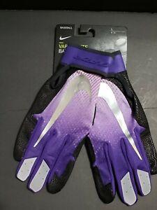 Nike Vapor Elite Baseball Batting Gloves Purple Black Silver Mens Size Large L
