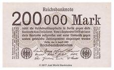 Alemania 200000 Mark 1923 P-100 Billetes Unc