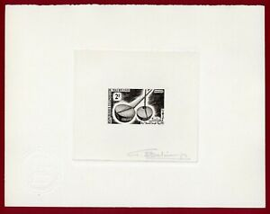 Mauritania 1965 #186, Artist Signed Die Proof, Hardine, Musical Instrument