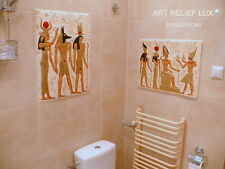 2x Relief Anubis Ägyptische Flachrelief  Egypt Agypten Stuck gips Skulptur Bild