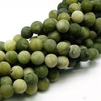 Natürliche Taiwan Jade Mattiert 6mm Rund Grün Edelsteine Schmucksteine BEST G18