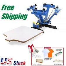 US- 4 Color Screen Printing Press Machine Silk Screening Pressing with 1 Station