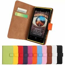 Luxury Genuine Leather Flip Stand Case Wallet Cover For Nokia Lumia 1020