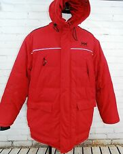 HELLY HANSEN Men's Duck Down Parka Jacket - Hooded Winter Coat - RED 3XL