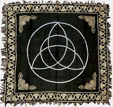 "Gold on Black Triquetra  Altar / Tarot Cloth 18"" x 18"" (Charmed, Wicca)"