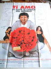 """LOCANDINA FILM """"TI AMO IN TUTTE LE LINGUE DEL MONDO"""" - F.TO 197X138 (2 PARTI)"""
