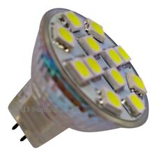MR11 12 SMD LED 12V (10-30V DC) 200LM 2.4W White Bulb (~25W)