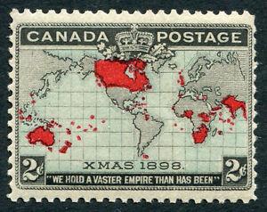 Canada - #85 F-Vf Jamais à Charnières Édition - Britannique Empire Carte